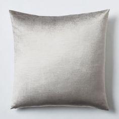 """$23.00  Dimensions: 20""""sq. Quantity: 2  Luster Velvet Pillow Cover - Platinum   west elm"""