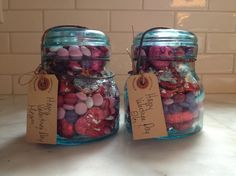 Vintage Atlas jars for Valentine's Day.   Jars found at Five Mile River Road old house.
