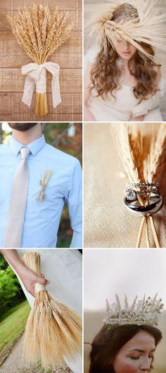 Perfect Match 5: boda rústica + espigas #bodas #inspiración