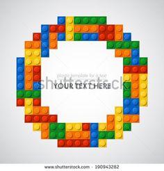 Ring of plastic bricks. 5 colors. Enjoy! - stock vector
