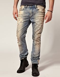 Image 1 of Diesel Thavar Skinny Jeans Love Jeans, Jeans Style, Tomboy Fashion, Denim Fashion, Masculine Style, Diesel Jeans, Denim Outfit, Clothing Co, Stylish Men