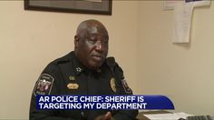 Police Chief Roy Hill was very emotional during the interview and said his officers only ever have issues with people who say they're friends with the sheriff.