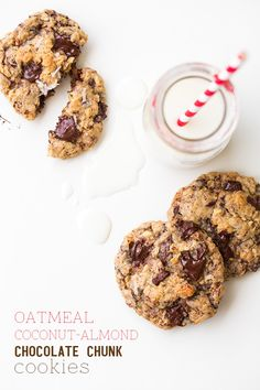 Oatmeal Coconut Almond Chocolate Chunk Cookies - Cooking Classy