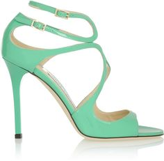 Jimmy Choo Lang patent-leather sandals on shopstyle.com