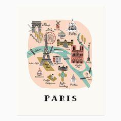 Städteposter - Paris from Pappsalon