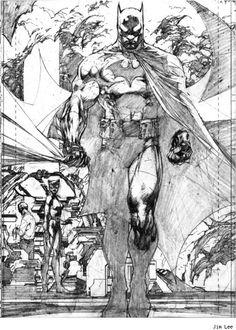 Jim Lee illustration from Batman: Hush Comic Book Artists, Comic Book Characters, Comic Artist, Comic Character, Comic Books Art, Jim Lee Batman, Batman Kunst, Batman Art, Batman Superhero
