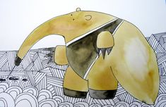 giant anteater by Jessica Moon Bernstein