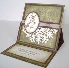 Love easel cards especially for display on a desk!
