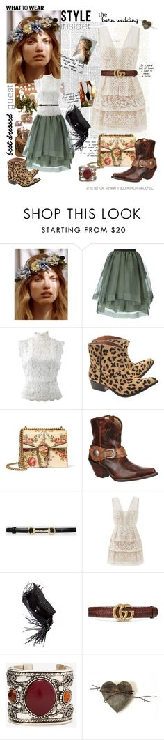 """WHAT TO WEAR...Best Dressed Guest"" by catstewart ❤ liked on Polyvore featuring Free People, Antonio Marras, Oscar de la Renta, OneTeaspoon, Gucci, Durango, BCBGMAXAZRIA, Balenciaga, bestdressedguest and barnwedding"