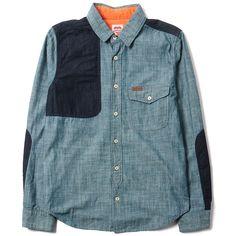 Carhartt Heritage L/S Polk Shirt Gant Chambray Blue Rinsed