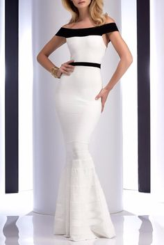 Clarisse 4709 Off shoulder White Mermaid Bandage Gown Dress White Pageant Dresses, Tight Prom Dresses, Elegant Prom Dresses, Glam Dresses, Beautiful Prom Dresses, Homecoming Dresses, Formal Dresses, Glamorous Dresses, Classy Evening Gowns