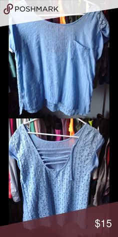 Lace chiffon blouse Used once Tops