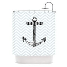 Anchor by Suzanne Carter Shower Curtain