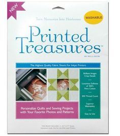Prym Dritz Printed Treasures Printer Fabric Sheet Sew-In at Joann.com