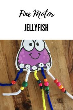Fine motor practice and counting with this jellyfish activity! Perfect for an ocean theme and preschool