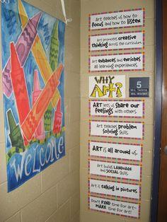 Math elementary art classroom decor, elementary a. Art Classroom Posters, Art Classroom Decor, Art Room Posters, Art Classroom Management, Classroom Setup, Classroom Organization, Classroom Procedures, Classroom Signs, Future Classroom