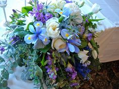 for the head table, a cascading arrangement