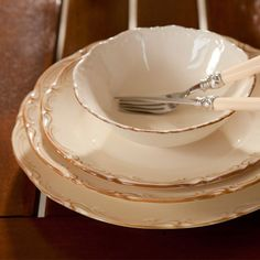 San Marco Cream Tumbled 24 Piece Dinner Set – My Wedding Dream