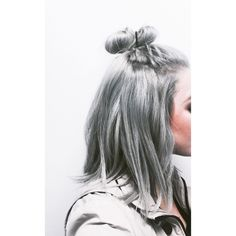 Hair goals finally met! pravana silver topknot greyhair silverhair