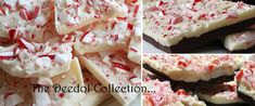 Peppermint Bark 2 lbs white chocolate chips 1 cup Candy canes, crushed Peppermint extract, optional Line a cookie sheet with parchment paper or wax paper Melt white chocolate over low heat, then re...