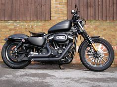 Harley Davidson Iron 883 like the seat and blacked out pipes