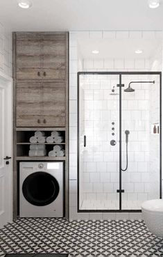 My Pins Custom Furniture: Advantages, Disadvantages and 60 PHOTOS Primer of Bathroom Remodeling Bath Diy Bathroom, Laundry In Bathroom, Bathroom Interior, Small Bathroom, Master Bathroom, Bathroom Ideas, Budget Bathroom, Shiplap Bathroom, Shower Bathroom