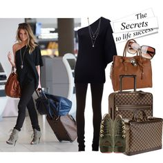 Airport style, created by allanasol.polyvore.com
