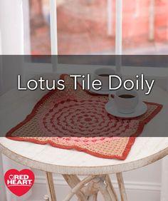 Lotus Tile Doily Fre
