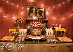 Thanks to Christi at P is for Party for introducing me to this amazing party. This was a couples shower designed by Trish of Frilly Milly Eventsandshemakesgingham and burlaplook like Versace! I'm a sucker for a stylish buffet table, and this one takes the cake with it's corn-on-a-cob skewers, and individual baked bean jars. This …
