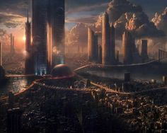 Sci-fi Futuristic City