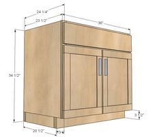 Best Ana White Build A 36 Sink Base Kitchen Cabinet 400 x 300