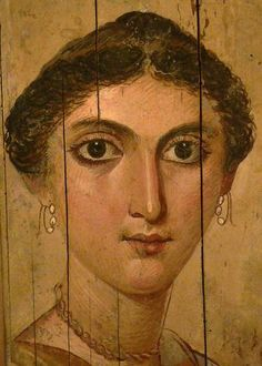 Romano-Egyptian Fayum mummy portrait of woman, Saqqara, AD 138-161 (Paris, Musée du Louvre)