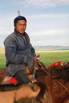 Horses guardian . Mongolia