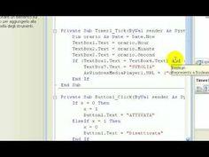 Tutorial-88-Imparare Visual Basic - #Basic #Corso #Imparare #Insegnare #ITA #Italiano #Lezione #Lezioni #Linguaggio #Programma #Programmare #Programmazione #Scuola #Sveglia #Tutorial #Video #Visual http://wp.me/p7r4xK-WF