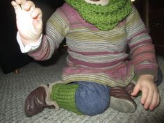 Child Scarf and Leg Warmers Set