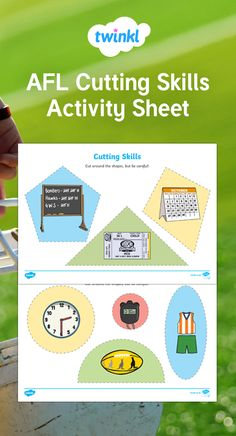 An extremely useful resource, perfect for enhancing those fine motor skills. This can be used in the classroom or sent home for practise! Australian Football League, Activity Sheets, Fine Motor Skills, Worksheets, Classroom, Activities, Motor Skills, Fine Motor, Countertops