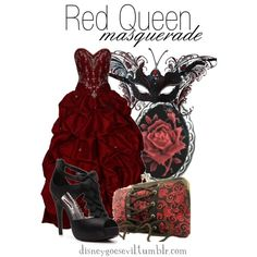 """Red Queen"" by disney-villains on Polyvore. I can't help but love everything about this outfit"