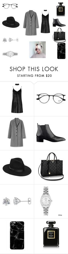 """""""Outfit #16"""" by anam53046 ❤ liked on Polyvore featuring Boohoo, Ray-Ban, Gap, Lack of Color, Rolex, Harper & Blake, Corvus and Chanel"""