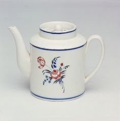 #HandPainted Mocha Pots with #Floral patterns were a Boch specialty in the Septfontaine days