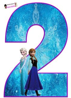 Bonitos números de Frozen con la imagen de Elsa y Anna, ideales para decoración de fiesta, adornos de habitación, adornos para pasteles, etc. Te contamos que estos números de Elsa y Anna podrán des…