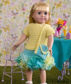 Mesmerizing Crochet an Amigurumi Rabbit Ideas. Lovely Crochet an Amigurumi Rabbit Ideas. American Girl Outfits, American Doll Clothes, Baby Doll Clothes, American Girls, Barbie Clothes, Crochet Skirt Pattern, Crochet Doll Dress, Crochet Doll Clothes, Knitted Dolls