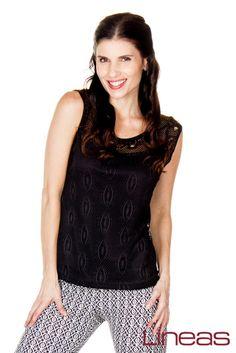 Blusa. Modelo 17740. Precio $200 MXN. Pantalón. Modelo 18353. Precio $120 MXN. #Lineas #outfit #moda #tendencias #2014 #ropa #prendas #estilo #moda #primavera #outfit