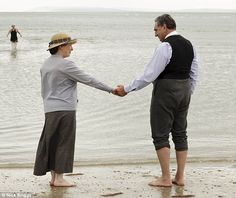 Carson and Mrs Hughes share a touching scene as their friendship blossoms in the Downton Abbey Christmas Special.