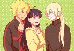 inohima Boruto, Himawari, and Inojin