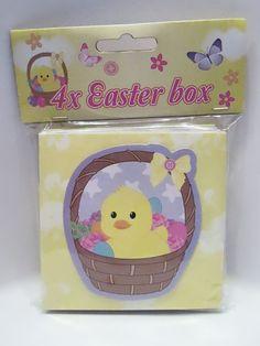 4x Ostern - Box / Ostern Körbchen - Diesen und weitere Artikel finden Sie bei Marias-Einkaufsparadies.de! (www.marias-einkaufsparadies.de)