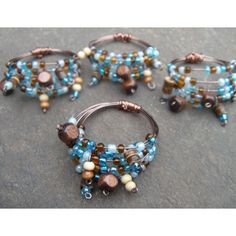 Bohemian style beaded napkin rings..I think I would do bracelets :)