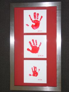 my three kids handprints ready to hang....