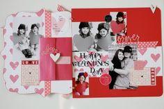 Valentines Scrapbook Layout
