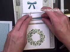Video Tutorial For The Wonderous Wreath | My Stamp Lady See how to line up the Wonderous Wreath stamp set from Stampin' Up! Purchase products as www.ShopWithMyStampLady.com