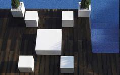 Vondom Quadrat Puf Hocker 40 Design Garten
